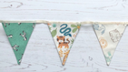 Jungle Animals Mini Cotton Bunting (Price inc P & P)  with 14 Flags